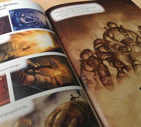 «The Secret of the Machines» illustrations on comic book format based on the poem by Ruydard Kipling
