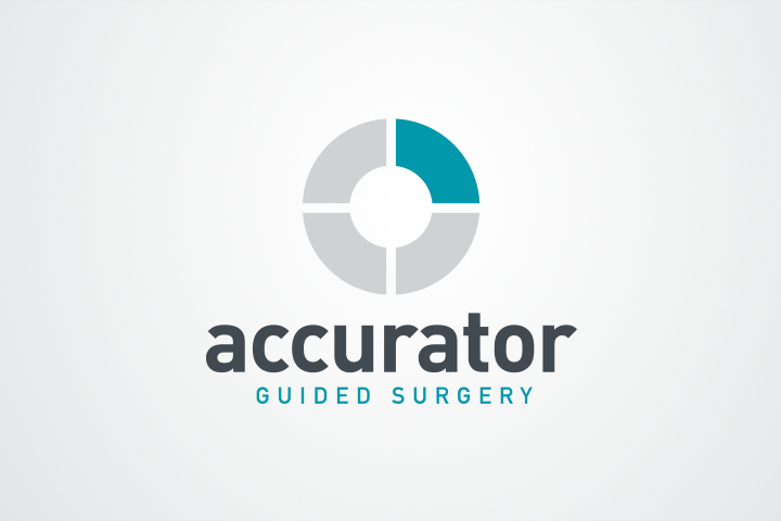 Accurator guided surgery logo design