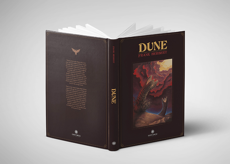 «Dune» book front and back cover design