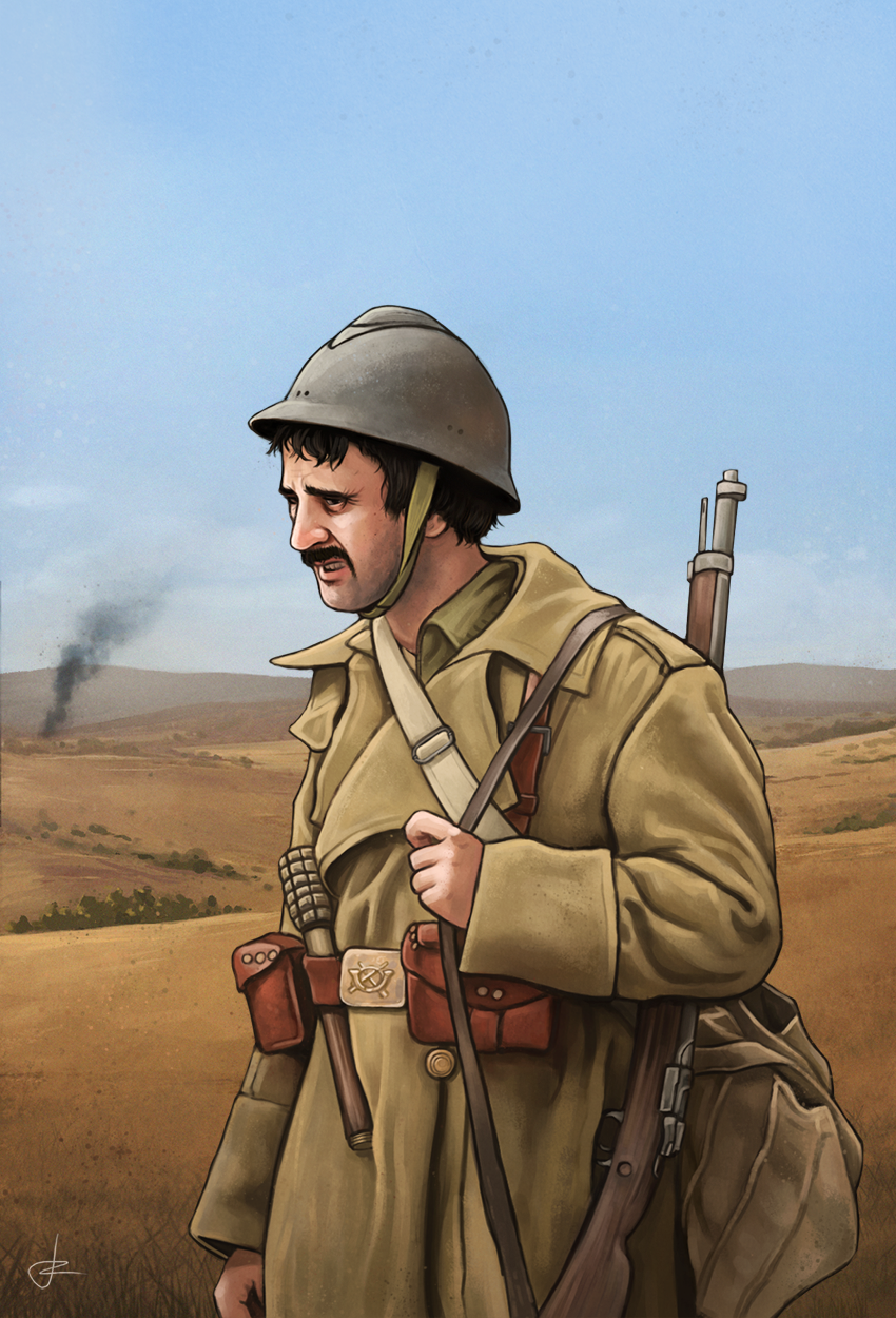 International Brigades soldier, Spanish Civil War