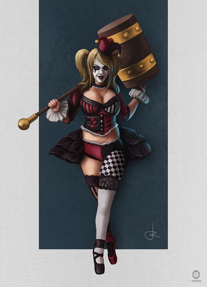 Harley Quinn digital illustration