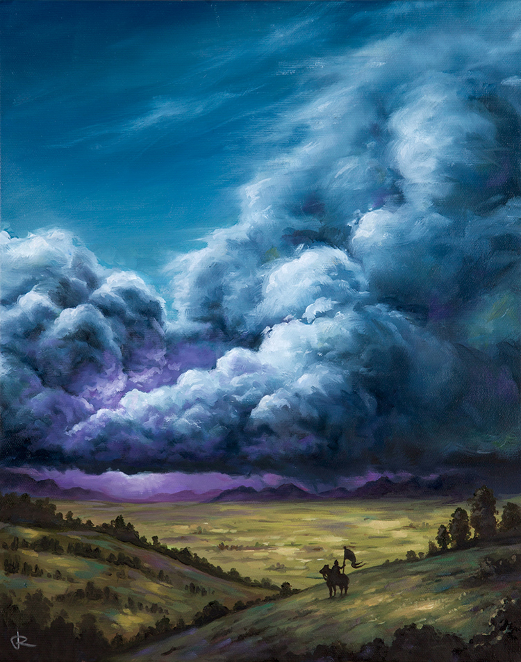 Highstorm fantasy landscape illustration