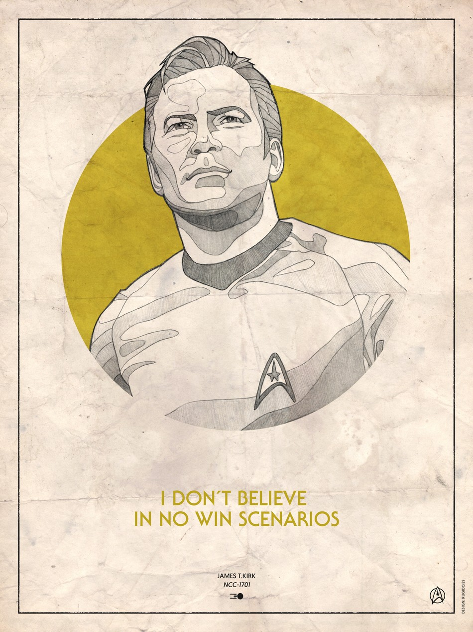 Star Trek - James T.Kirk retro poster