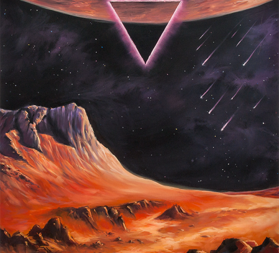 «Cosmic conception» space art oil painting