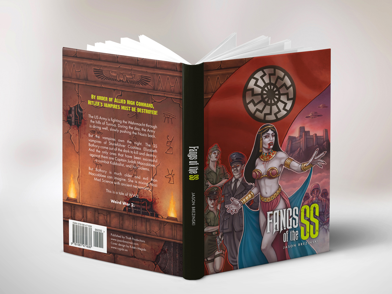 Fangs of the SS book jacket design