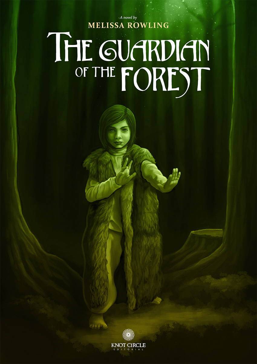 «The Guardian of the Forest» fantasy novel cover design