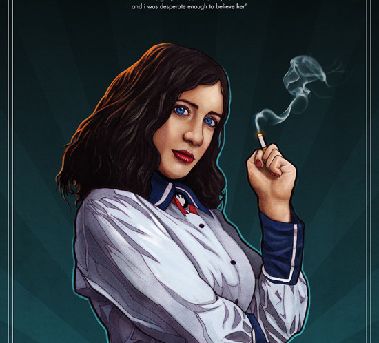 BioShock Infinite: Burial at Sea Vintage Art Deco poster