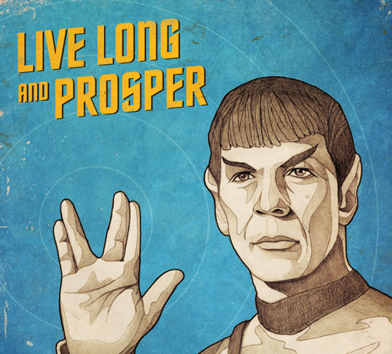 Star Trek Spock poster - Live long and prosper
