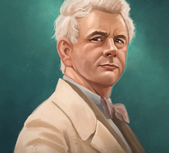 Portrait of Aziraphale from Amazon Prime´s Good Omens