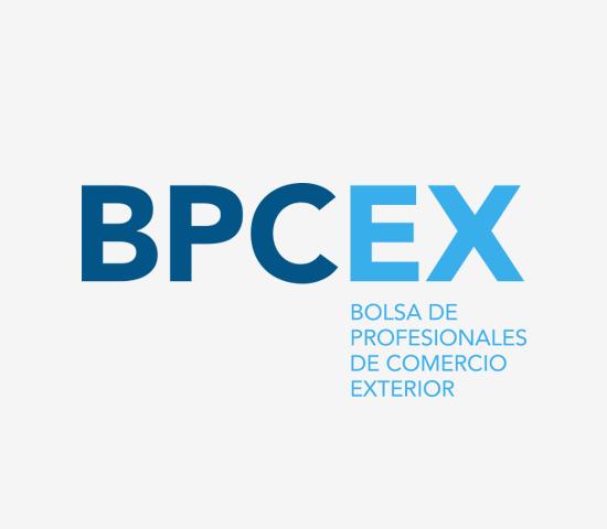 BPCEX bolsa de profesionales de comercio exterior logo design