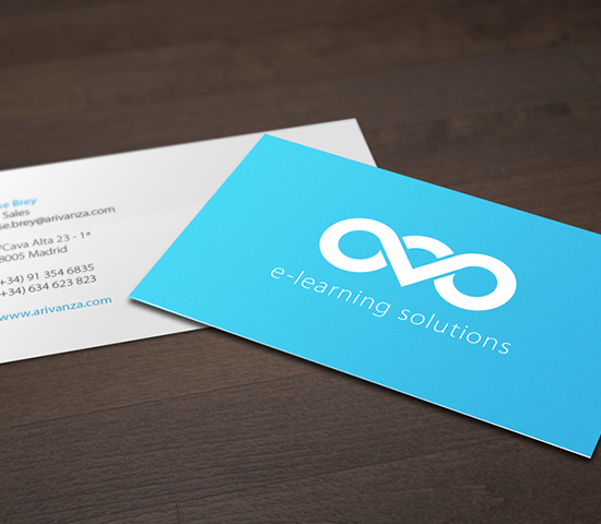 Arivanza Technologies business card