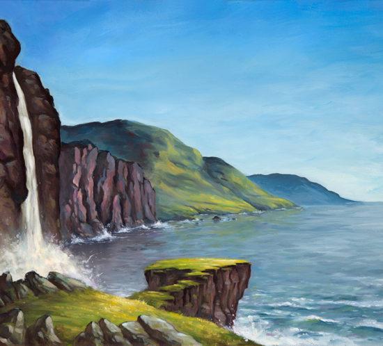 Coastline landscape illustration