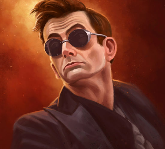 Portrait of Crowley from Amazon Prime´s Good Omens