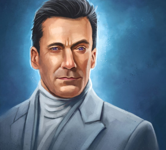 Portrait of Gabriel from Amazon Prime´s Good Omens