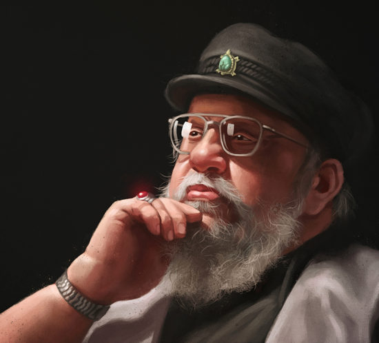 George R.R. Martin plotting hte death of some beloved character