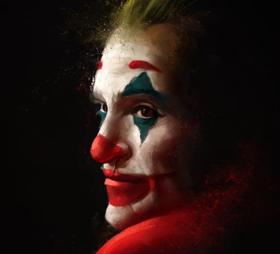 Portrait of Joaquin Phoenix as Joker