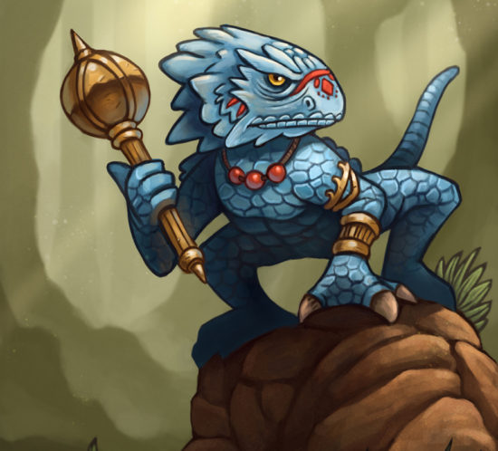 Character design lizardman warrior