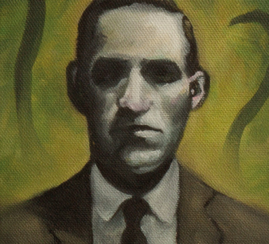 Oil paint portrait of the writer Howard Pillips Lovecraft