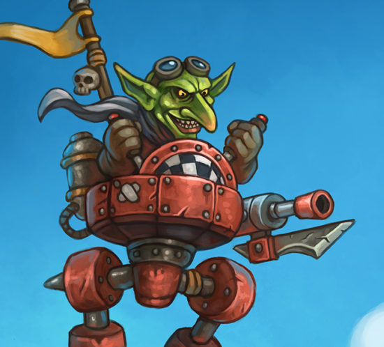 Goblin scout mech illustration