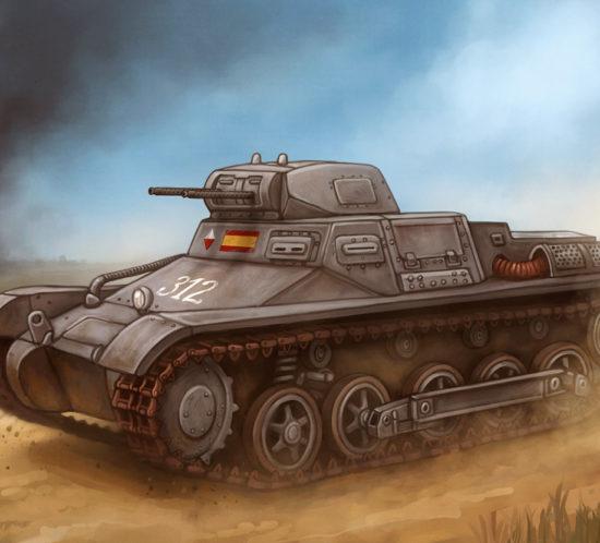 Panzer I Ausf.B del Bando Nacional en la Guerra Civil Española