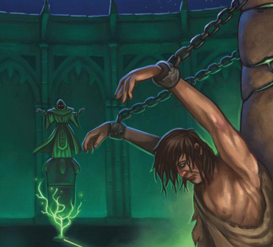 Diseño de cubierta e ilustracion para «El Hombre Encadenado»