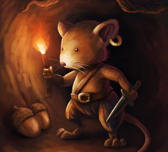 «Pirate mice» fantasy children illustration