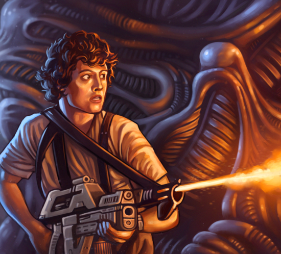 Aliens - Ripley with flamethrower