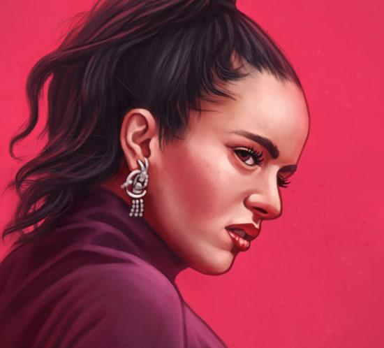 Portrait ofsinger Rosalía