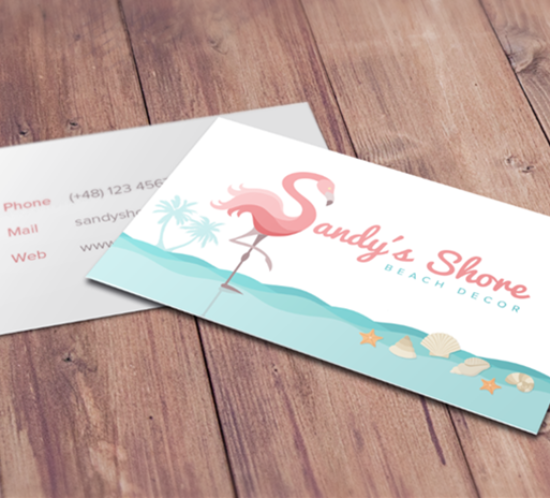Sandys hore beach decor business cards