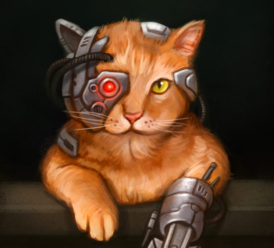 Data´s cat Spot assimilated by the Borg