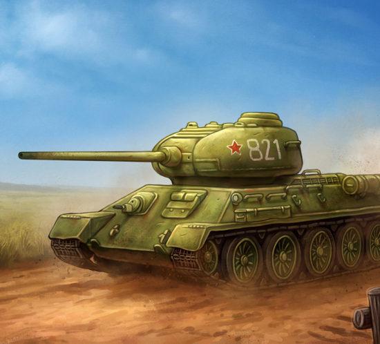 Carro de combate soviético T-34/85