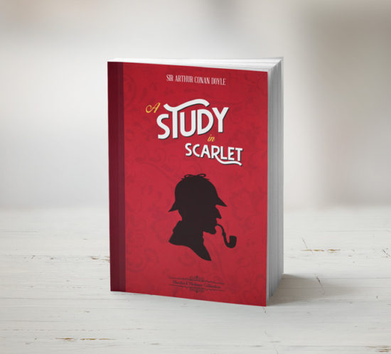 A study in scarlet book cover