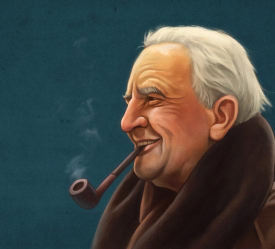 J.R.R. Tolkien portrait