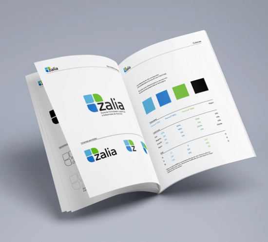 Zalia corporate identity manual design